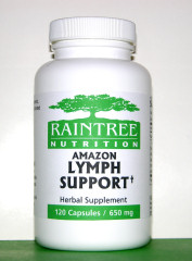 Amazon Lymph Support Capsules traditionally used in South America to support the lymphatic system and the lymph glands
