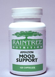 Amazon Mood Support Capsules traditionally used by herbal practitioners in South America for depression and to lift the mood