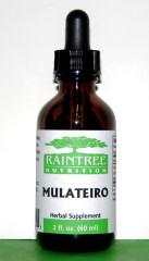 Mulateiro Extract is traditionally used for fungal infectiuons of the skin,skin parasites, and as a skin aid for wrinkles, scars freckles and age spots